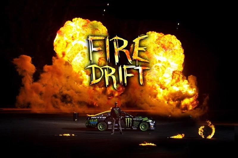 Video: Vaughn Gittin Jr. Performs Incredible Fire Drift