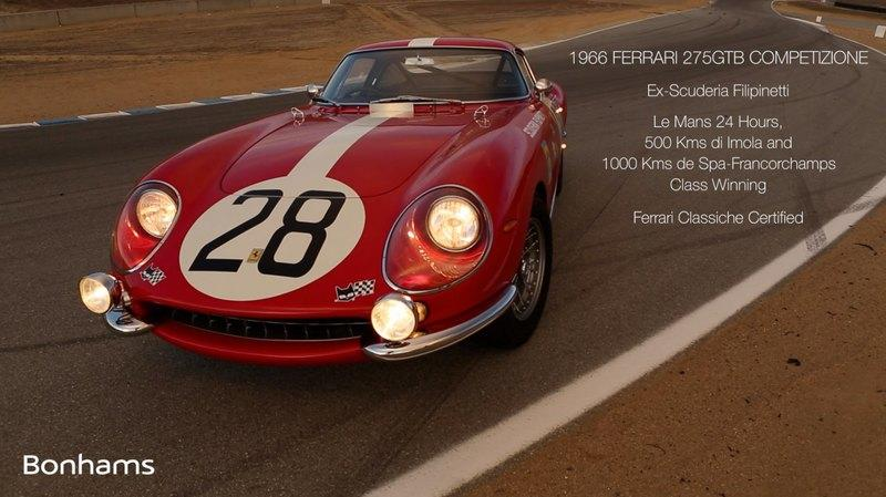 Ferrari 275 GTB Competizione Will Be Auctioned At Scottsdale: Video