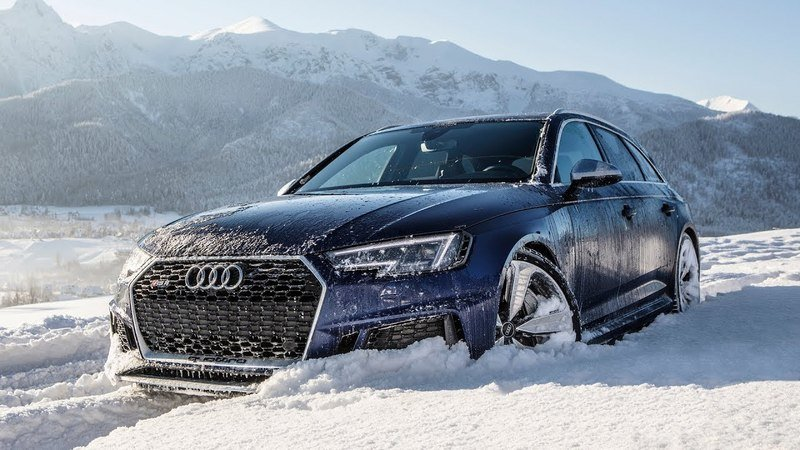 Video of the Day: Watch the Audi RS4 Handle Snow Like Second Nature