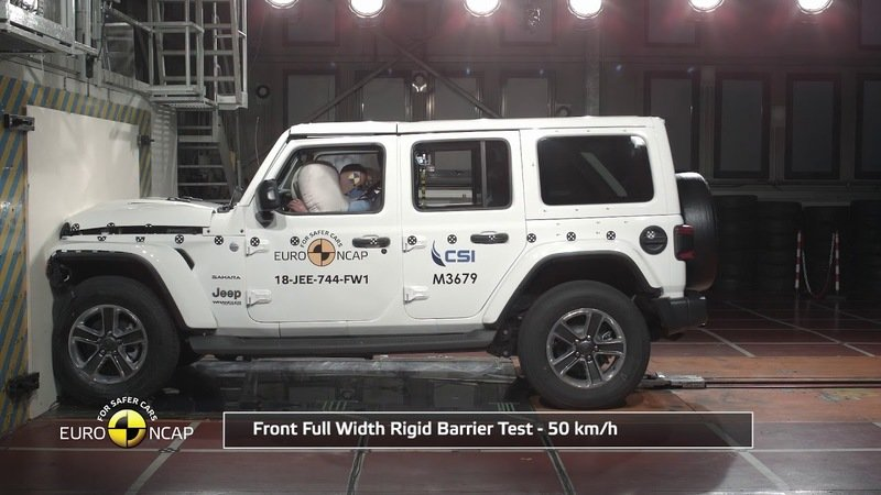 The 2019 Jeep Wrangler JL Scores a Disappointing One-Star Rating in Euro NCAP Crash Testing