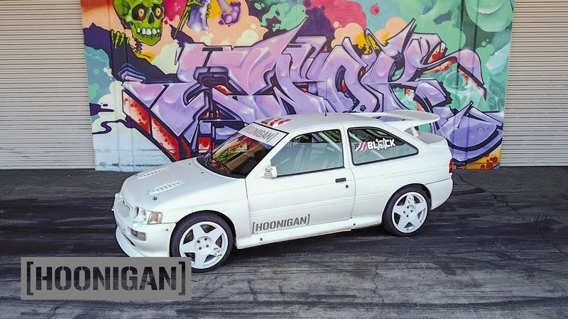 Ken Block And The Hoonigans Play With An Escort Cosworth Rally Racer: Video