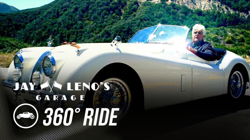 Jay Leno Takes Us On A 360-Degree Drive With A 1954 Jaguar XK120