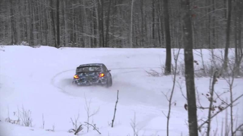 2015 Subaru STI Rally Car Has Fun On The Snow: Video