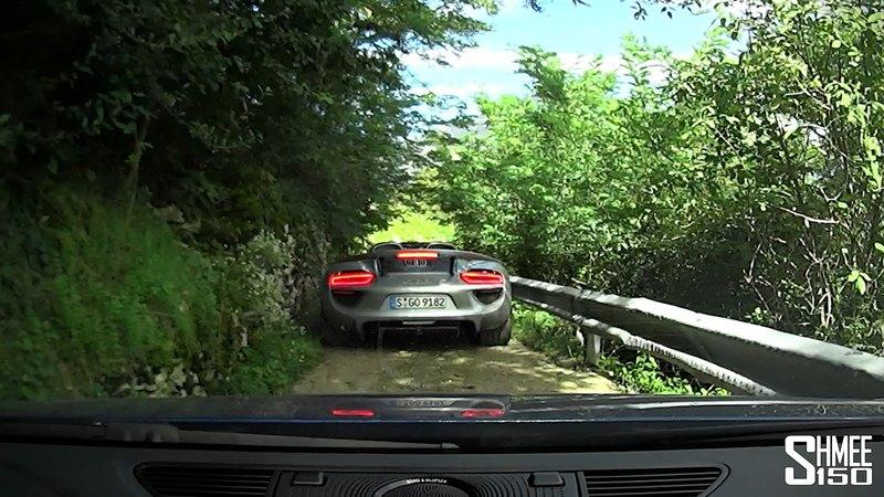 Audi R8 Plus Vs. Ferrari F12 Vs. Porsche 918 on Italy's Mountain Passes: Video