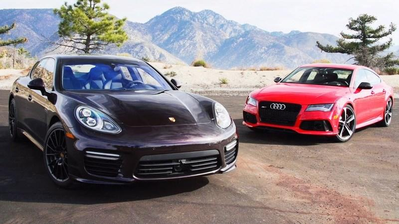 Video: 2014 Audi RS7 Vs 2014 Porsche Panamera Turbo