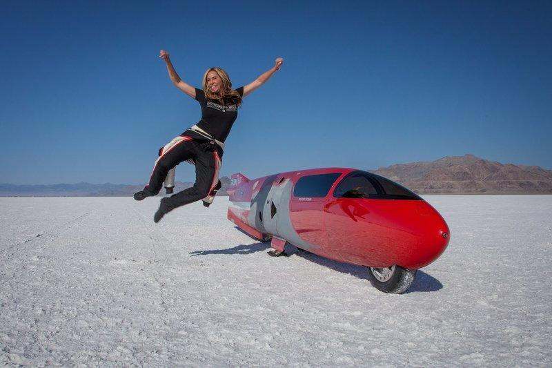 Valerie Thompson set to beat the motorcycle land-speed record