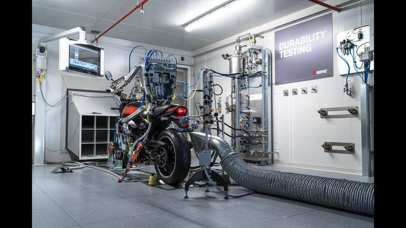 Akrapovic uses a human robot at its swanky-new test facility