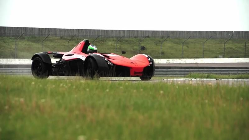 Video: Chris Harris Wags the BAC Mono's Tail on a Wet Track