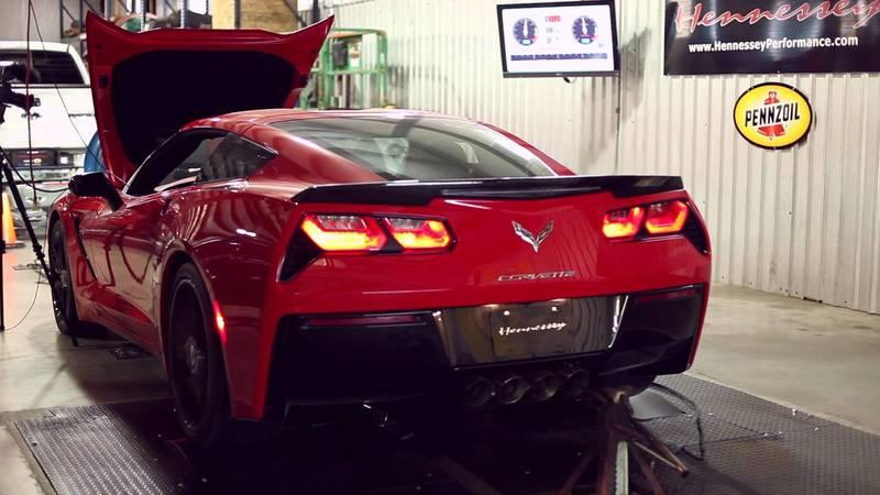 Video: 2014 Chevrolet Corvette Stingray HPE700 By Hennessey Hits the Dyno