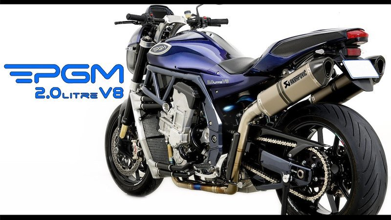 The most powerful production motorcycle: PGM 2.0 Liter V8