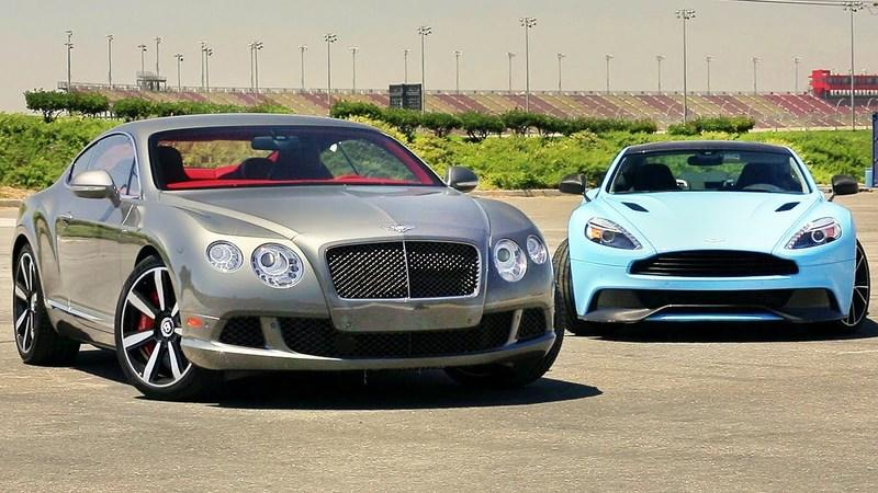 Video: Aston Martin Vanquish vs Bentley Continental GT Speed