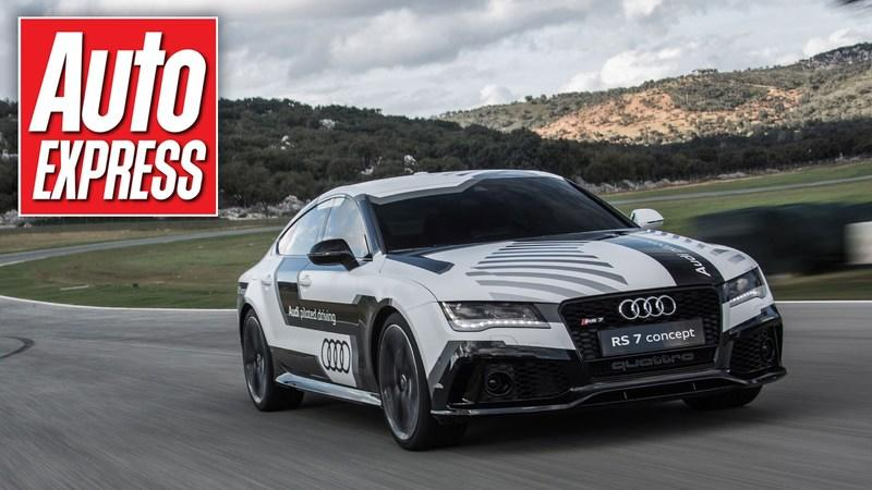 A Ride in the Self-driving Audi RS7 Around the Ascari Track: Video