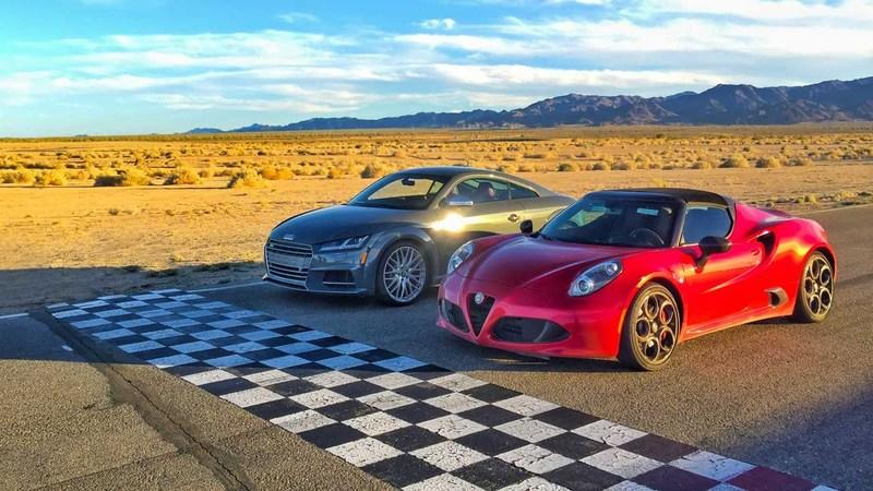 Motor Trend's Head 2 Head Takes A Look At The Audi TTS And The Alfa Romeo 4C: Video