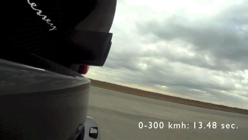 Video: Hennessey Venom GT Strikes, Hits 230 MPH In Under 20 Seconds