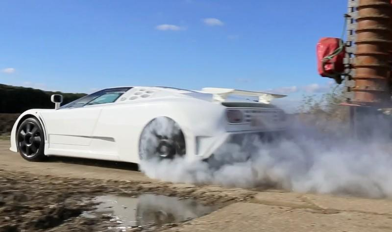 Video: Bugatti EB110 Super Sport Burnout and More