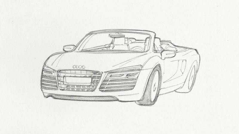 "Video: Marvel's ""Steer The Story"" Teaches us How To Draw An Audi R8"