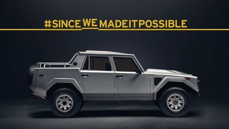 With The Urus Debut Now Imminent, Lambo Does A Throwback To Its First SUV