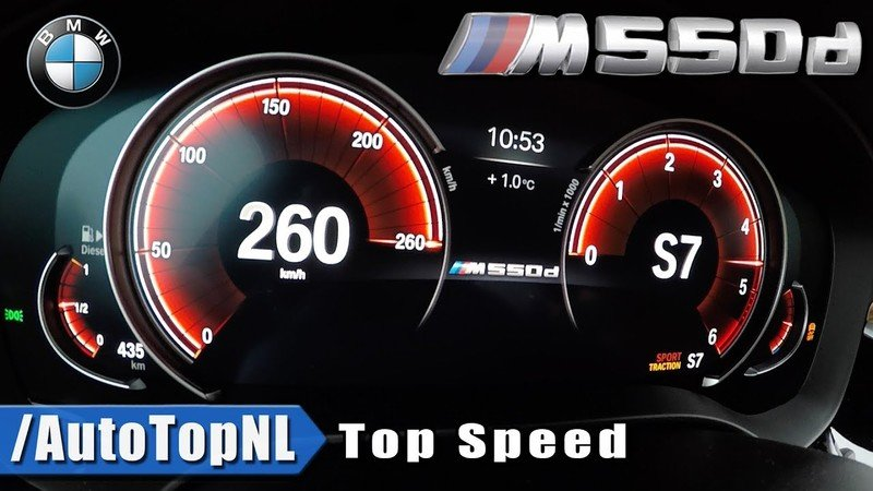 Watch the BMW M550D Bounce Off the Speed Limiter