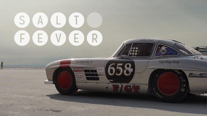 Video: Mercedes 300SL Gullwing going to Bonneville