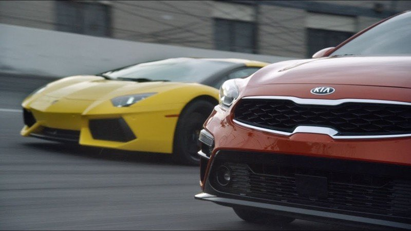 Kia Pits The Forte Against The Lamborghini Aventador in Hilarious Ad