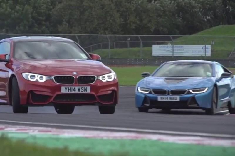 BMW i8 Battles BMW M4 on the Track: Video