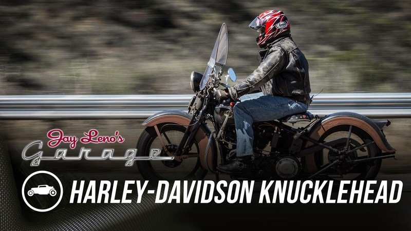 Video: Jay Leno Enjoys His Harley-Davidson Knucklehead