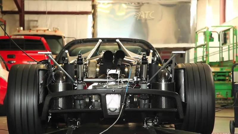 Video: World's first Hennessey Venom GT shooting flames on dyno