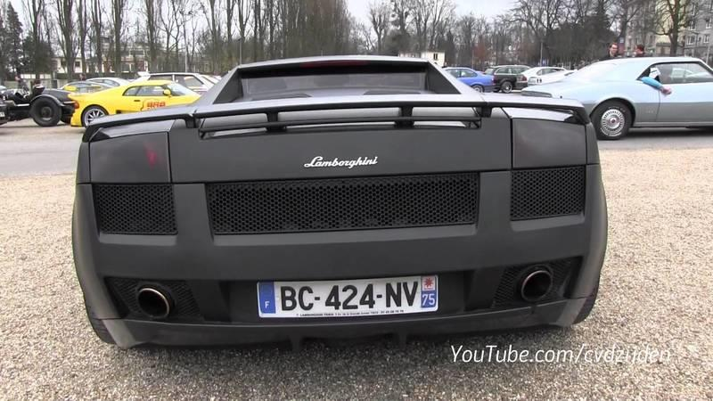 Video: Lamborghini Gallardo roars in matte black exterior finish with crazy pink interior