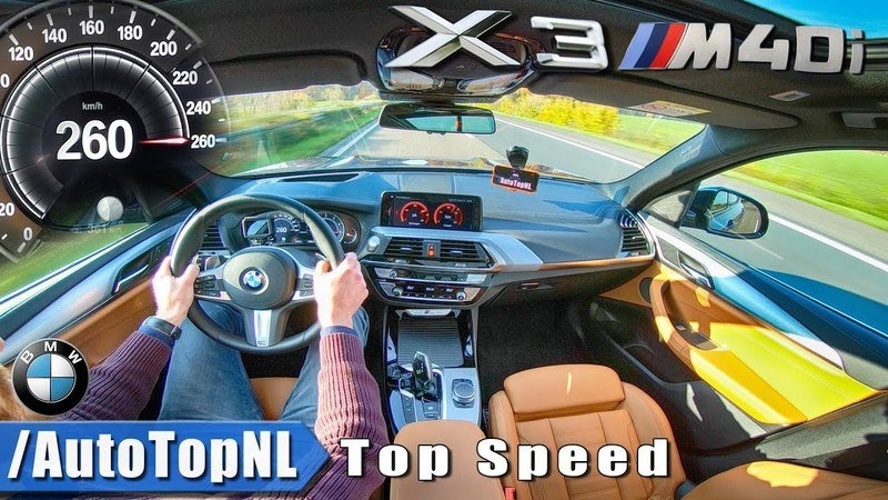 Watch this BMW X3 M40i Hit Top Speed on the Autobahn!