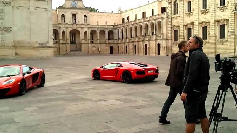 Video: Top Gear trio rolls around Rome in three supercars