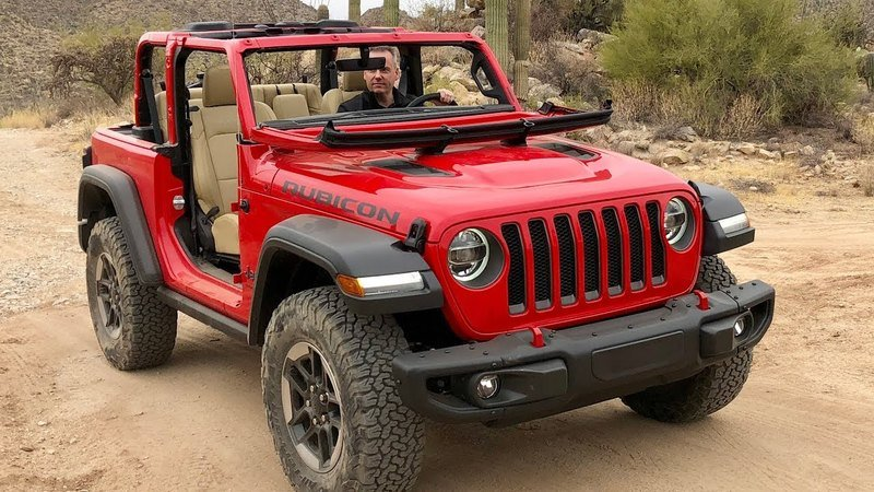 Watch the 2018 Jeep Wrangler's Soft Top & Windshield in Action