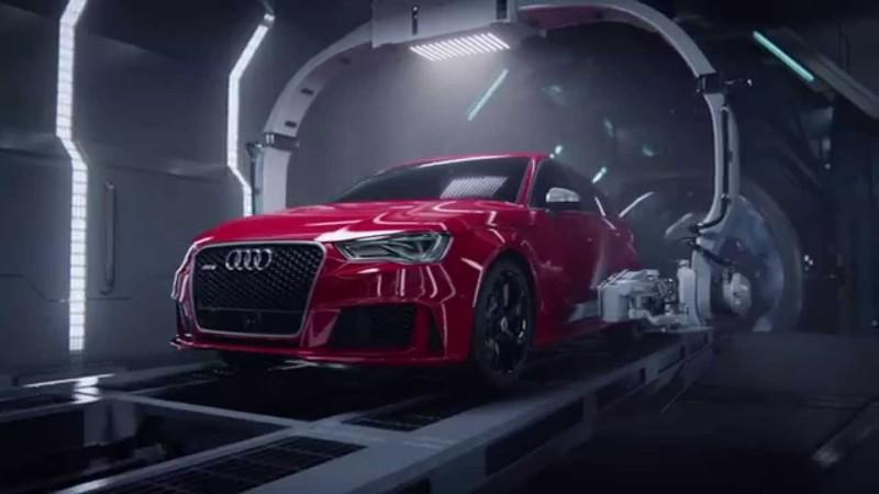 Audi R8 Gives Birth To RS3 Sportback: Video