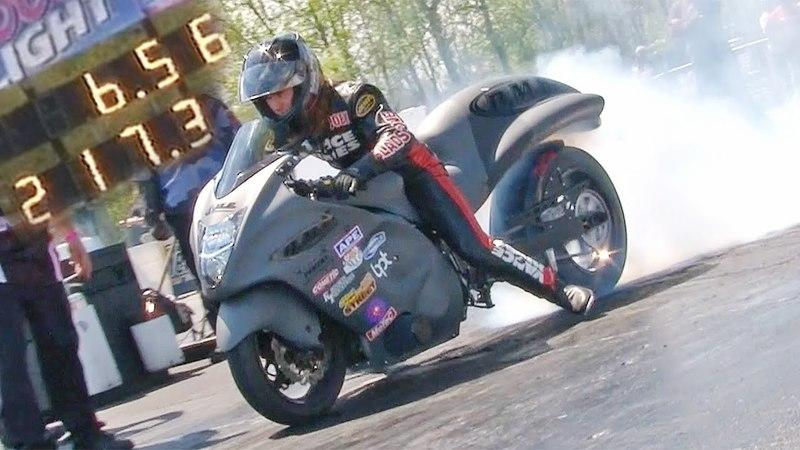 Video: Joey Gladstone Hits 217 MPH On A Wheelie Bar-Less Suzuki Hayabusa