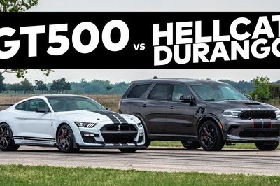 Dodge Durango Hellcat Takes On A Shelby GT500 - Does AWD Give the SUV an Edge?