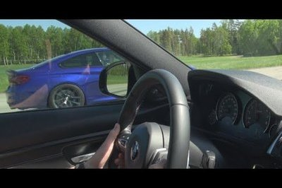 Watch a BMW M3 Competition Take On a BMW M4 CS