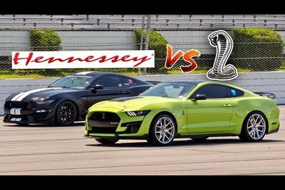 Watch a 1,000-Horsepower Hennessey Shelby GT350 Take on a Cammed Shelby GT500