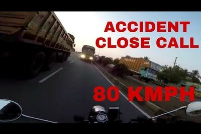 Vide: Rider on an Indian highway miraculously saves himself from an idiot trucker