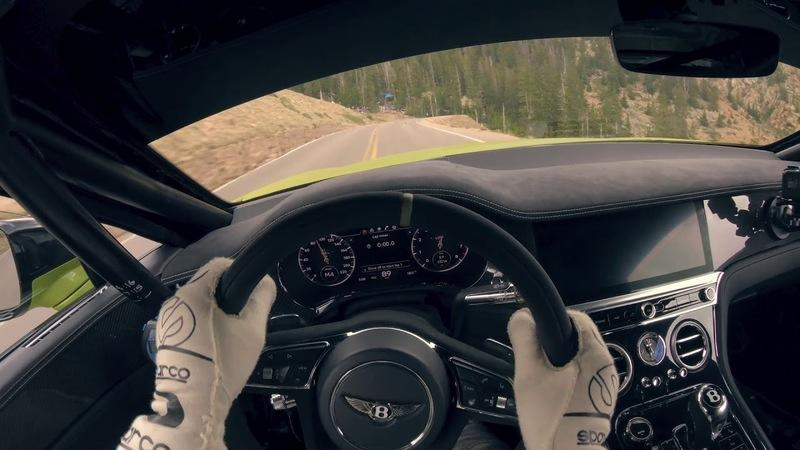 Sit Aboard the Bentley Continental GT as it Makes a Devastating Run Up Pikes Peak