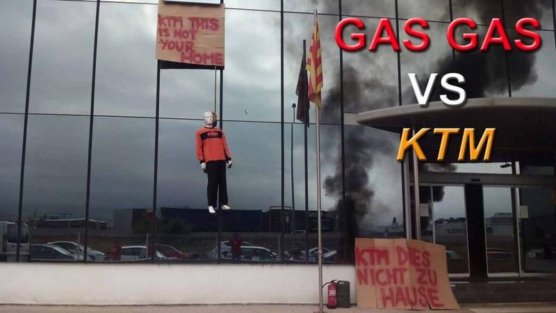 KTM Gets Rude Welcome During Visit To Gas Gas Headquarters