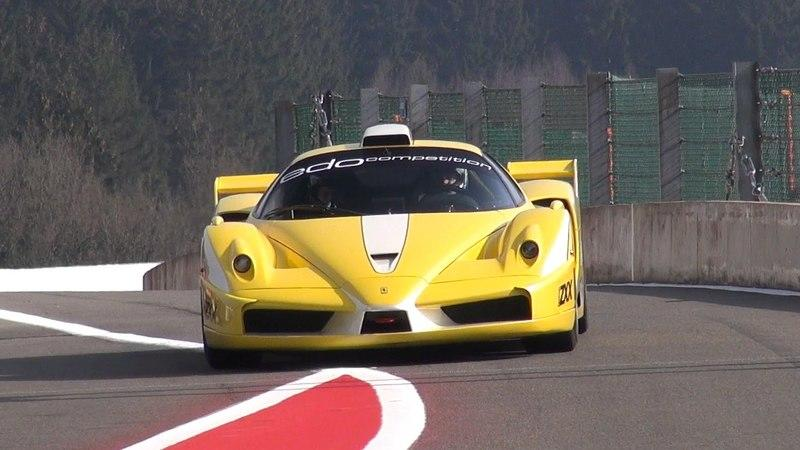 Ferrari Enzo ZXX Edo Competition In Action On The Track: Video