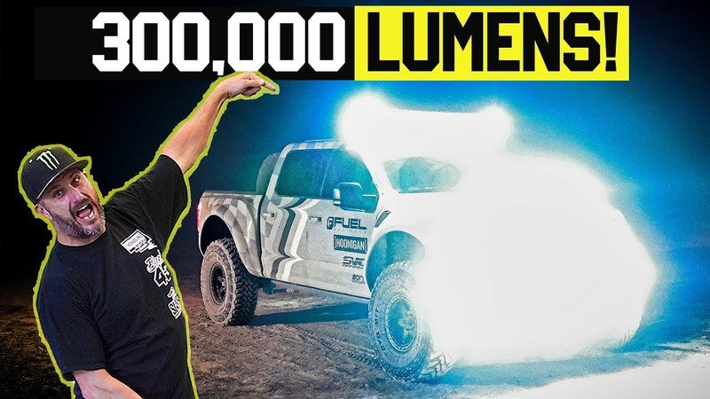 The Lights on Ken Block's SVC F-150 Raptor Will Turn Your Retinas Into Swiss Cheese