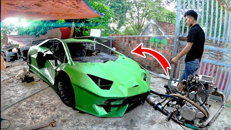 Someone Made a Lamborghini Aventador Out of Cardboard And Gave It Scooter Power