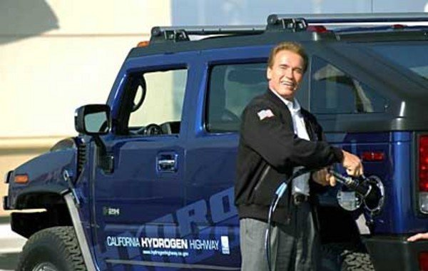 Arnold Schwarzenegger and the Hummer H2