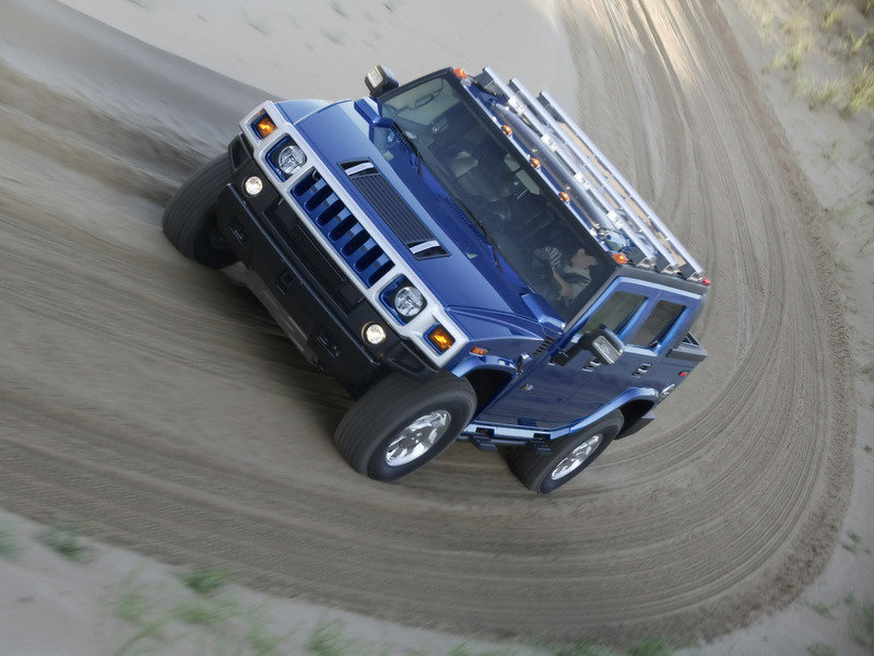 2006 Hummer H2 SUT Pacific Blue
