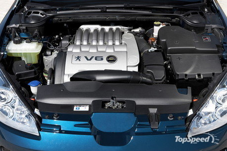 The top model Peugeot 407 Coupe is equipped with a 3-liter V6 engine