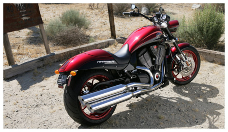 Front Fender Red Victory Hammer All Years,