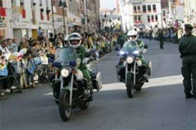 Pope Benedict XVI protected by BMW R1200RT and R850R's