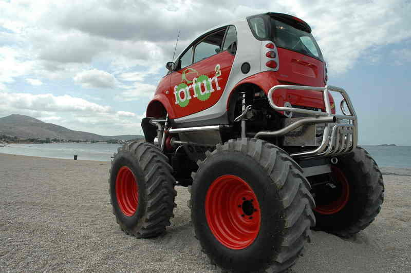 Smart forfun2: The combination of two vehicles with cult status
