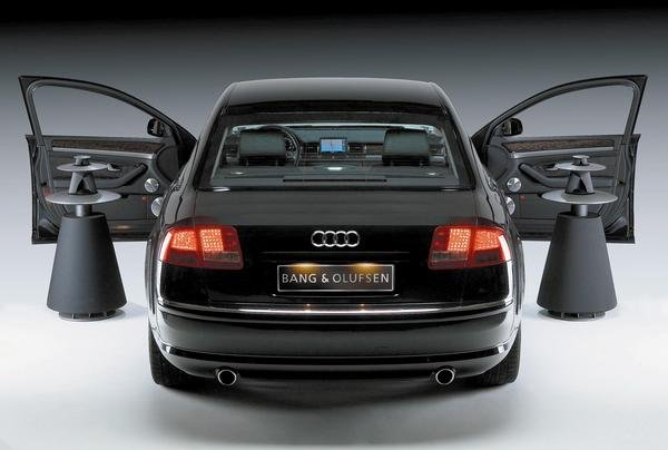 bang olufsen sound system in the audi a8 news gallery. Black Bedroom Furniture Sets. Home Design Ideas