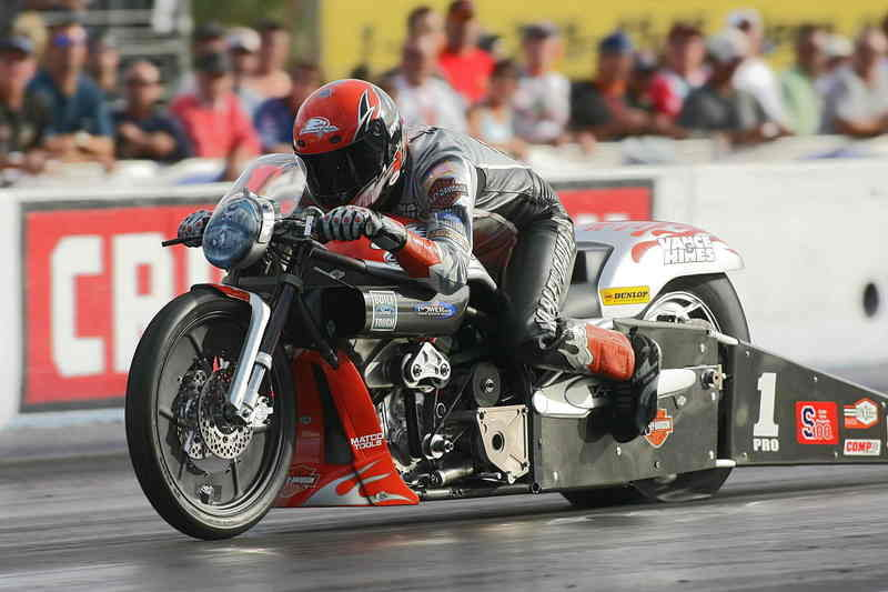 Hines rides Screamin' Eagle V-Rod event win en route to taking over NHRA pro stock motorcycle points lead